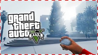 Repeat youtube video GTA 5 Online - SNOWBALL FIGHT! Next Gen GTA 5 PS4 Snow Gameplay! (GTA 5 Christmas DLC 2014)
