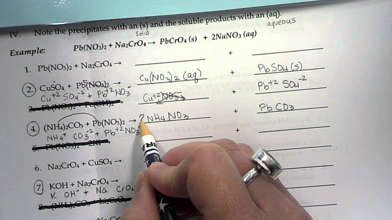 solubility rules practice wksht - YouTube