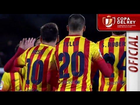 Golazo de Messi (0-2) en el Getafe CF - FC Barcelona Copa del Rey