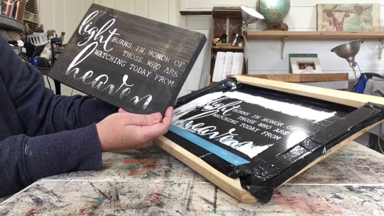 how to screen print on wood youtube