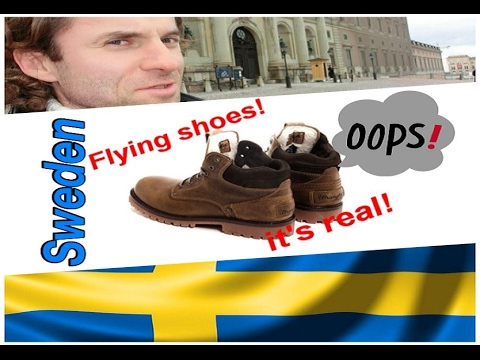Stockholm,Sweden, SPA. Flying shoes. It's real!
