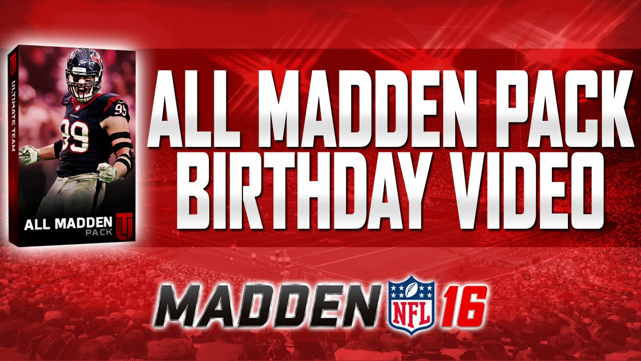 madden 16 ultimate team all madden pack opening what does 915