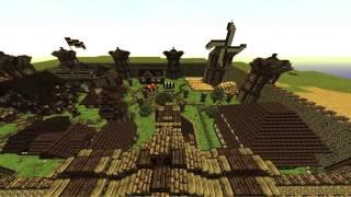 minecraft village medieval map