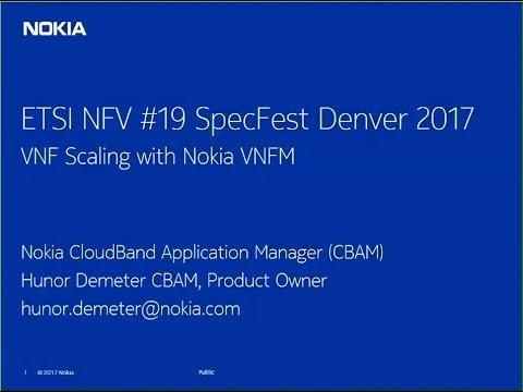 VNF Scaling using ETSI NFV's APIs with Nokia CloudBand
