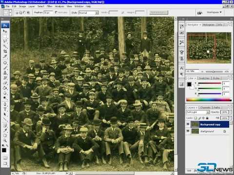 Старые черно белые фото, обработка в фотошоп.