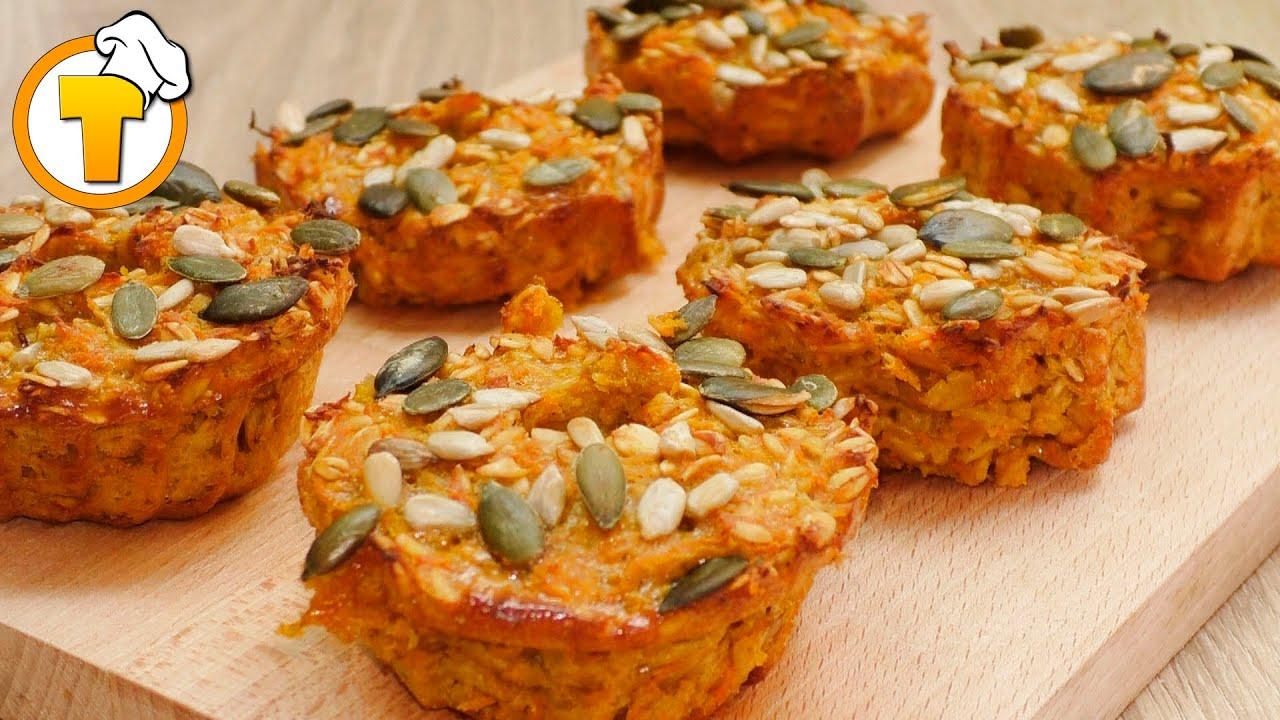 Морковные кексы без муки. Просто, вкусно, полезно! (6+)