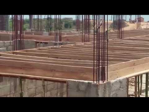 Ghana House Building starting upper floor.