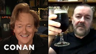 Ricky Gervais Treats His Body Like An Old Car - CONAN on TBS