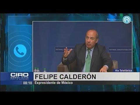 """Felipe Calderón.- """"Ni cómplice, ni me hice de la vista gorda en el robo de combustible"""""""