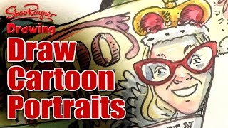 How to draw cartoon portraits from photographs