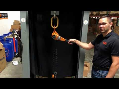 Overload Protection Handle On A MAGNA Lever Chain Hoist