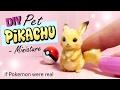 DIY Miniature Pet Pikachu Tutorial // 'Realistic' Pokemon Miniature