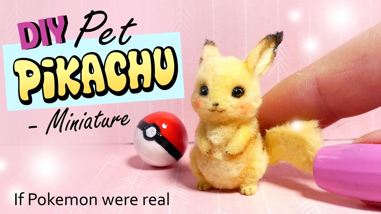 Diy Miniature Pet Pikachu Tutorial Realistic Pokemon