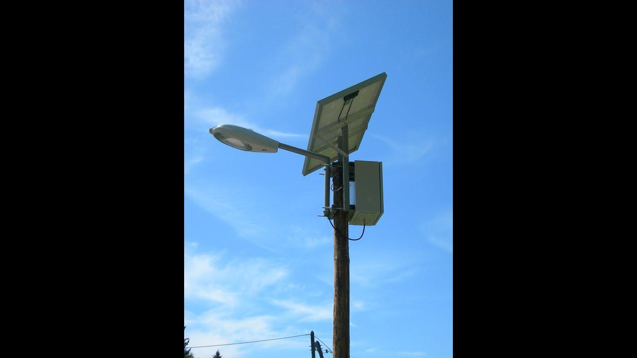 Clairage lampadaire solaire industriel partie 2 youtube - Lampadaire industriel vintage ...