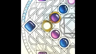Coloring Tutorial: Rendering Sapphire Cabochons, by Jennifer Zimmermann