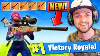 *NEW* SNIPER ONLY VICTORY in Fortnite: Battle Royale! thumbnail