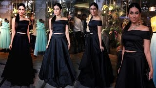 Sexy Karishma Kapoor in Black Strapless outfit at Amy Billimoria Store Launch