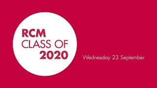 Royal College of Music Class of 2020