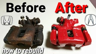 Honda / Acura rear caliper rebuild