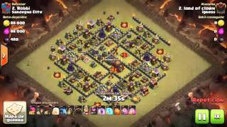 [Clash of Clans] Qw Split Hero LaLoon |TH10| 3stars #119