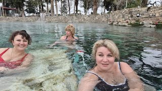 Турция едем в Памуккале заселение и ужин в Lycus River Hotel 5 купаемся в термальных источниках