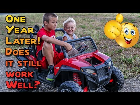 Peg Perego Polaris RZR 900 12 Volt Review - One Year Later Update!