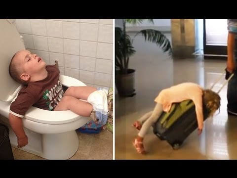 30 Times Kids Fell Asleep in the Funniest Places