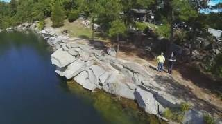 Drone Aerial and Diving Mix at Fantasy Lake Scuba Park in Rolesville, North Carolina