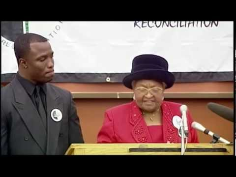 Mamie Till Speaks of Forgiveness #BLACKLIVESMATTER (Last Public Appearance Before Passing)