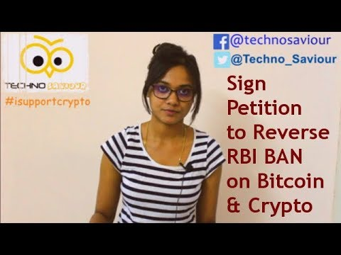 #isupportcrypto Sign the petition to reverse RBI Ban