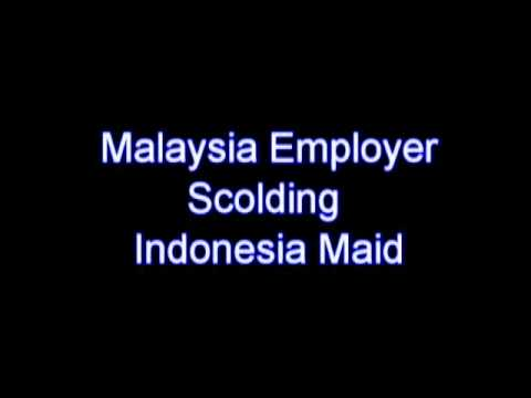 Malaysia Employer scolding Indo Maid