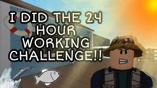 WORKING FOR 24 HOURS AS FISHERMAN ON BLOXBURG l ROBLOX