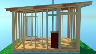 видео Односкатная крыша для бани из бревна: как построить и сделать самому?
