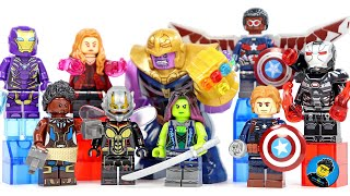 AVENGERS Endgame Set 16 Final Battle w/ Big Thanos Infinity Gauntlet Unofficial LEGO Minifigures