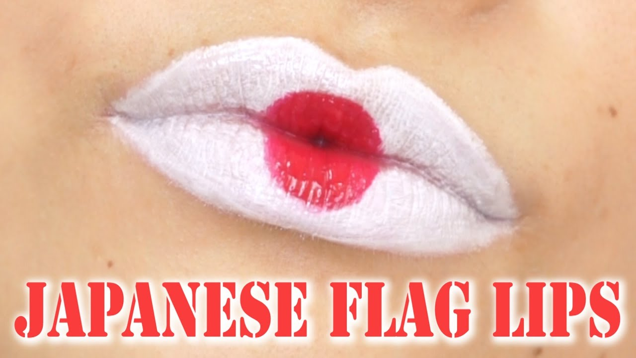 tag national flag lips japanese flag lips youtube