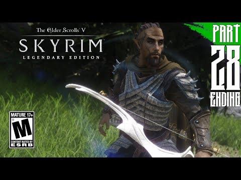 【SKYRIM 200+ MODS】Wood Elf Gameplay Walkthrough Part 28 - Ending [PC - HD]