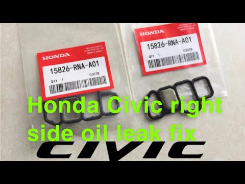 Honda Civic passenger side oil leak FIX