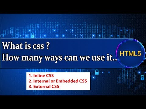 What is css ? How many ways can we use it? thumbnail