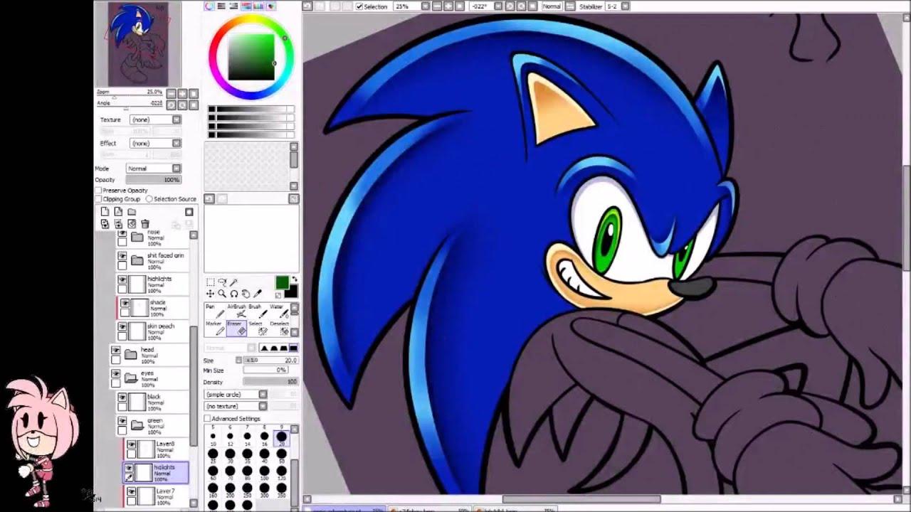 Sonic Adventure Style Sonic Speed Paint Youtube