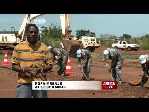 Chinese soldiers in South Sudan improving the livelihoods of IDPS