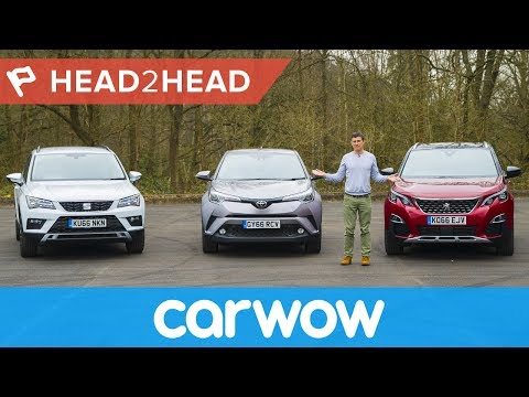 Peugeot 3008 vs Toyota C-HR vs SEAT Ateca - which is the best SUV? | Head2Head
