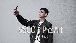 TUTORIAL NGEDIT FOTO INSTAGRAM w/ VSCO & PicsArt [hypebeast effect]   TUTORIAL #1