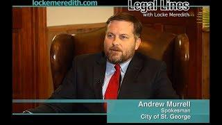 City of St. George Spokesman Andrew Murrell talks with Locke Meredith