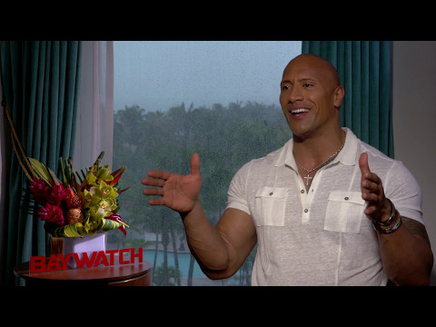 Dwayne Johnson Baywatch Raw Interview