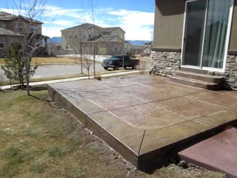 Denver Concrete Contractor Colored & stamped concrete complete