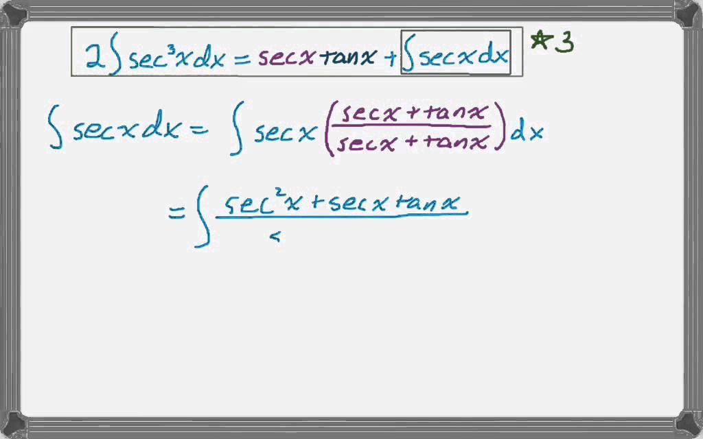 integral of secant cubed