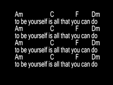 Be Yourself Audioslaveguitar Chords And Lyrics Youtube