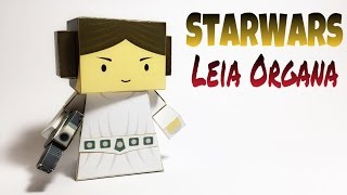 Princess Leia Star Wars Paper Crafts tutorial !