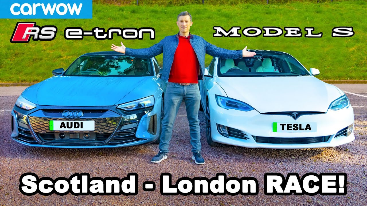Audi RS e-tron GT v Tesla Model S: 571-mile Scotland-to-London RACE & REVIEW!