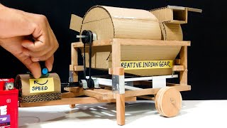 How to Make Wheat Thresher Machine from Cardboard at Home